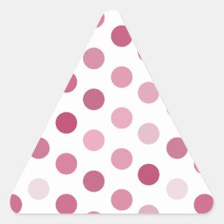 Pink Tone Polka Dots Triangle Sticker