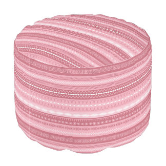 Pink toned sewing stitched pattern pouf