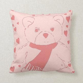 Pink Toned Teddy Bear Cushions
