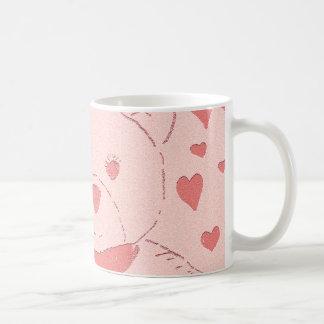 pink toned teddy bear coffee mug