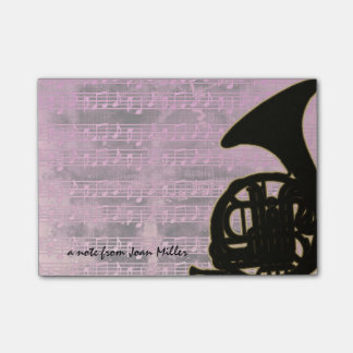 Pink Tones French Horn Post-it® Notes