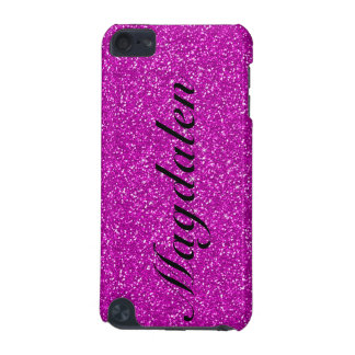 Pink Tones Glitter Custom Monogram iPod Touch (5th Generation) Cover