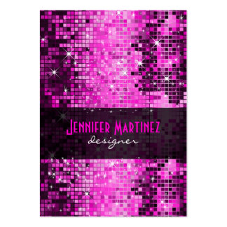 Pink Tones Retro Disco Faux Glitter Pack Of Chubby Business Cards