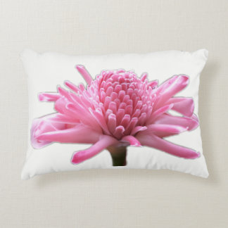 Pink Torch Ginger Accent Pillow