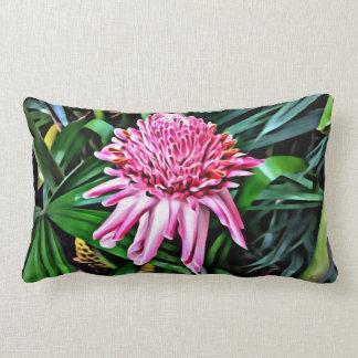 Pink Torch Ginger Lumbar Pillow