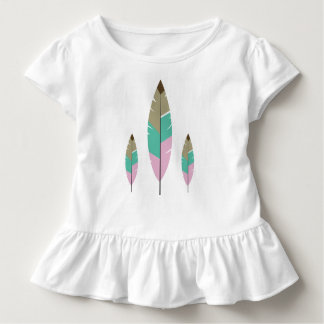 Pink Tosca brown cute baby feather beautiful girls Toddler T-Shirt