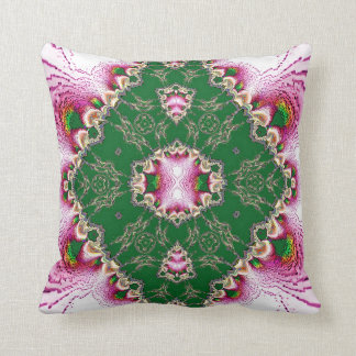 Pink Tourmaline with Green Jade Lace American MoJo Pillow