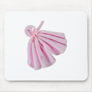 Pink towel mouse pad