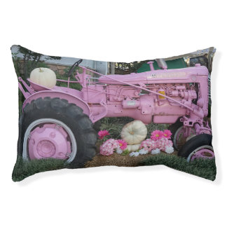 Pink Tractor Pet Bed