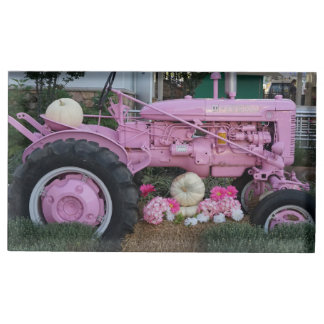 Pink Tractor Table Card Holder