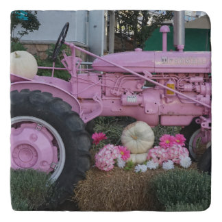 Pink Tractor Trivet