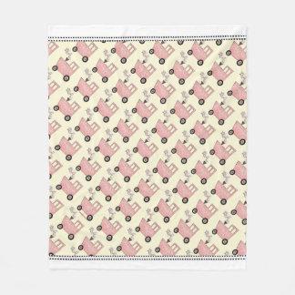 Pink Train Caboose Fleece Blanket