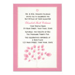 Pink Tree, Bat Mitzvah Invitation
