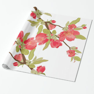 Pink Tree Blossoms Gift Wrap