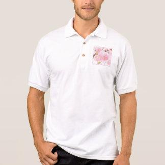 Pink Tree Cherry Blossom Polo Shirt