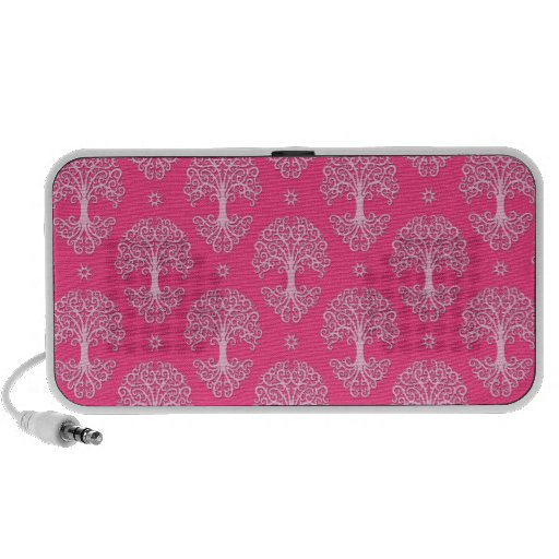 Pink Tree of Life Pattern Travel Speaker