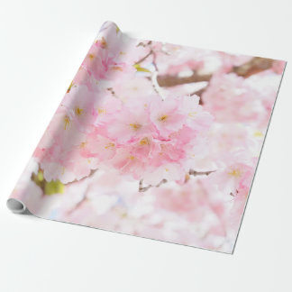 Pink Tree Sakura Cherry Blossom Wrapping Paper