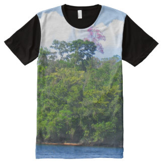 Pink Tree, South American Rain Forest Fine Art All-Over Print T-Shirt