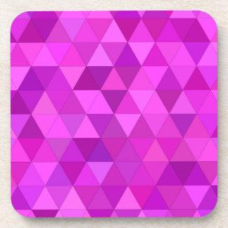 Pink triangles beverage coasters