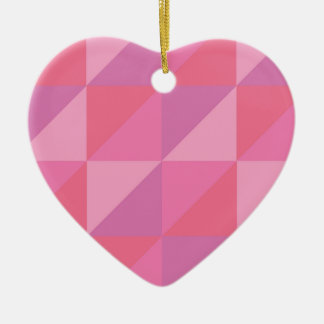 Pink Triangles Ceramic Ornament