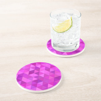 Pink triangles coasters