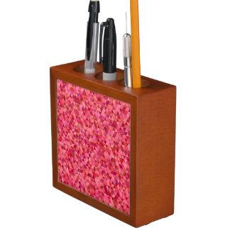 Pink Triangles Desk Organiser