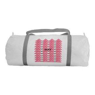 Pink triangles duffle bag gym duffel bag