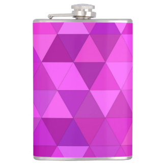 Pink triangles hip flask