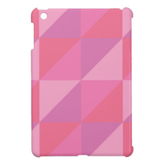 Pink Triangles iPad Mini Cover