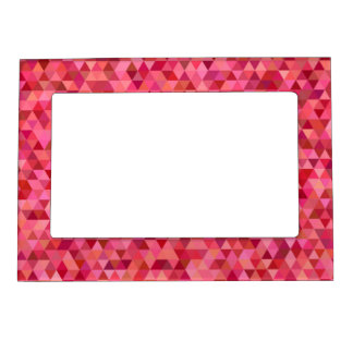 Pink Triangles Magnetic Picture Frame