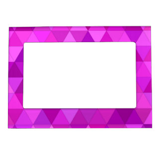 Pink triangles magnetic picture frames