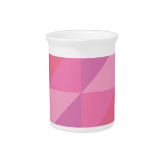 Pink Triangles Pitcher