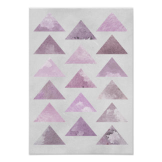 Pink Triangles Poster