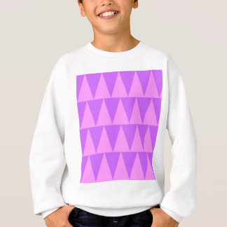 Pink Triangles Purple Background Sweatshirt