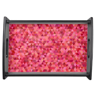 Pink Triangles Serving Tray