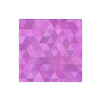Pink triangles stone magnet