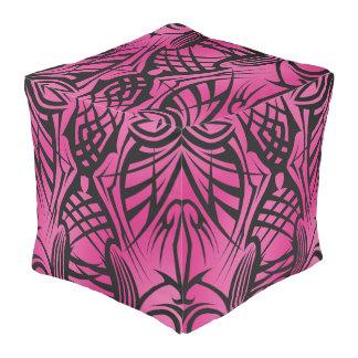 Pink Tribal Cube Bean Bags Pouf