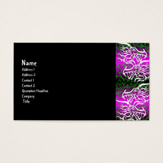 Pink Tribal Dragon gothic Business Card