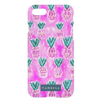 Pink Tribal Pineapple Pattern CUSTOMIZABLE iPhone 7 Case