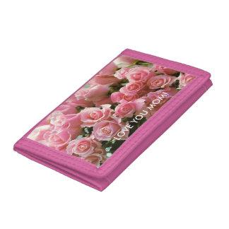 Pink TriFold Nylon Wallet