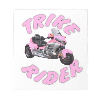 Pink Trike Rider Notepad