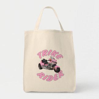 Pink Trike Rider Tote Bag