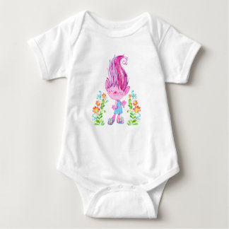 Pink Troll Body-Suit for Baby Girls Baby Bodysuit