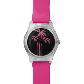 Pink Tropical Palm Tree Design Watch
