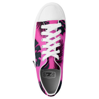 Pink Tropical Palm Tree Leaves Summer Fun Bright Low Tops