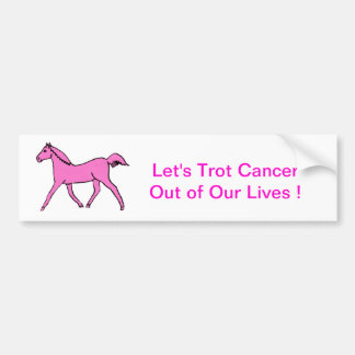 Pink Trotting Horse Car Bumper Sticker