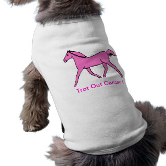 Pink Trotting Horse Doggie Tee Shirt