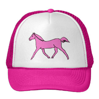 Pink Trotting Horse Hats