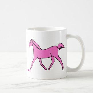 Pink Trotting Horse Mug