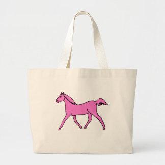 Pink Trotting Horse Canvas Bag